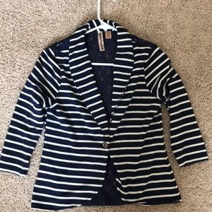 NWOT Blue and white striped Blazer